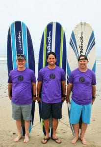 surf camp leaders with surfboards