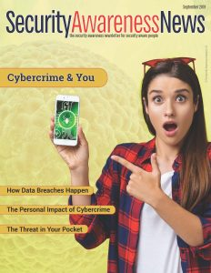 Cybercrime and You - September 2019 newsletter