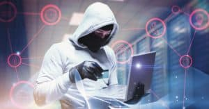 image of hacker at computer
