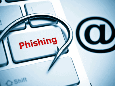 Phishing email concept