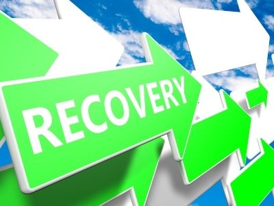 recovery arrow cloud concept