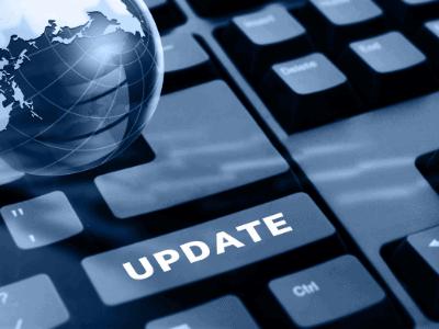 keyboard with update key