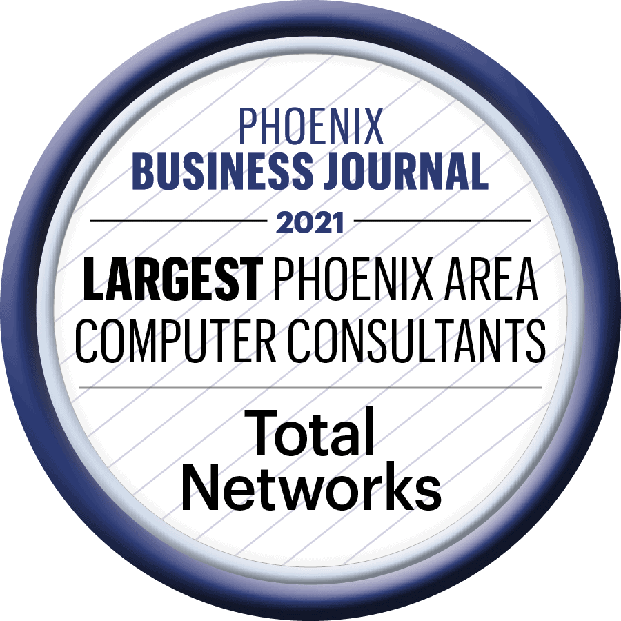 Total Networks Business Journal Largest Phoenix Area Computer Consultants