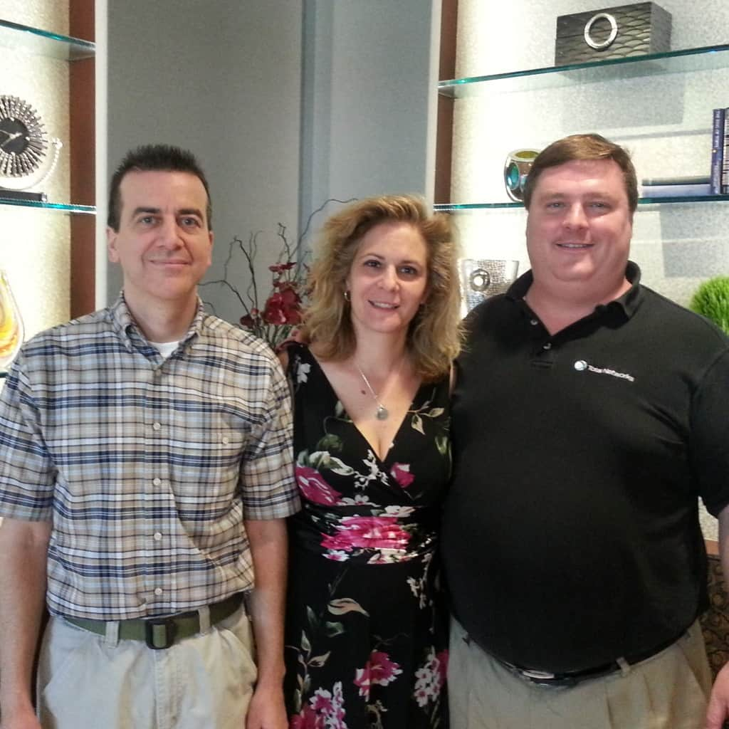 Kevin Mazza & Sandra Haislet of Warner Angle Hallam Jackson & Formanek with Total Networks' President Dave Kinsey