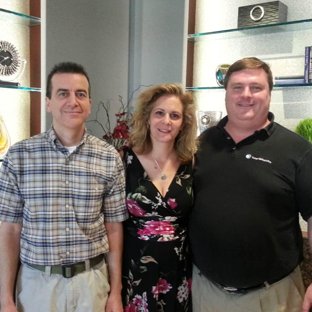 Kevin Mazza & Sandra Haislet of Warner Angle Hallam Jackson & Formanek with Total Networks' President Dave Kinsey